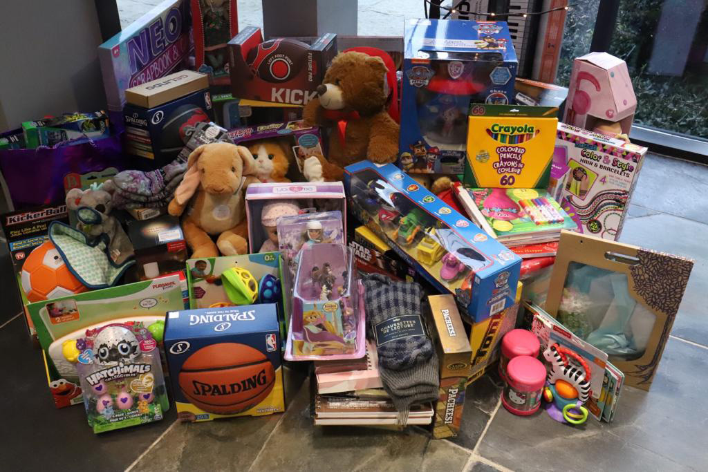 Toys at to local fire house - Collected and delivered by Peerage-Capital staff as part of the 2018 Christmas-Toy-Drive-
